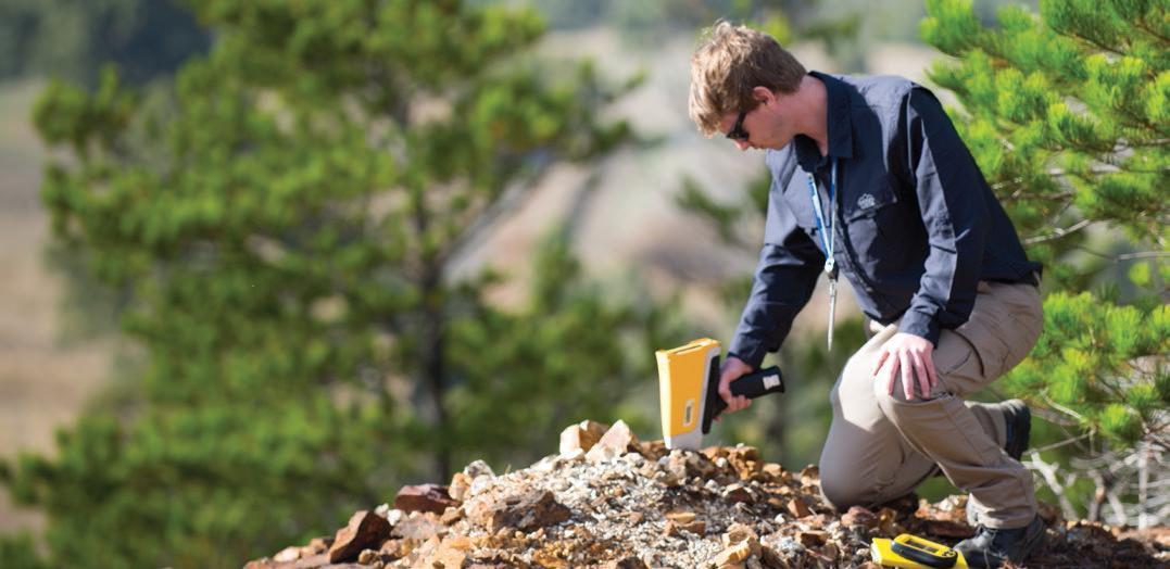 геологоразведка с помощью анализатора Vanta