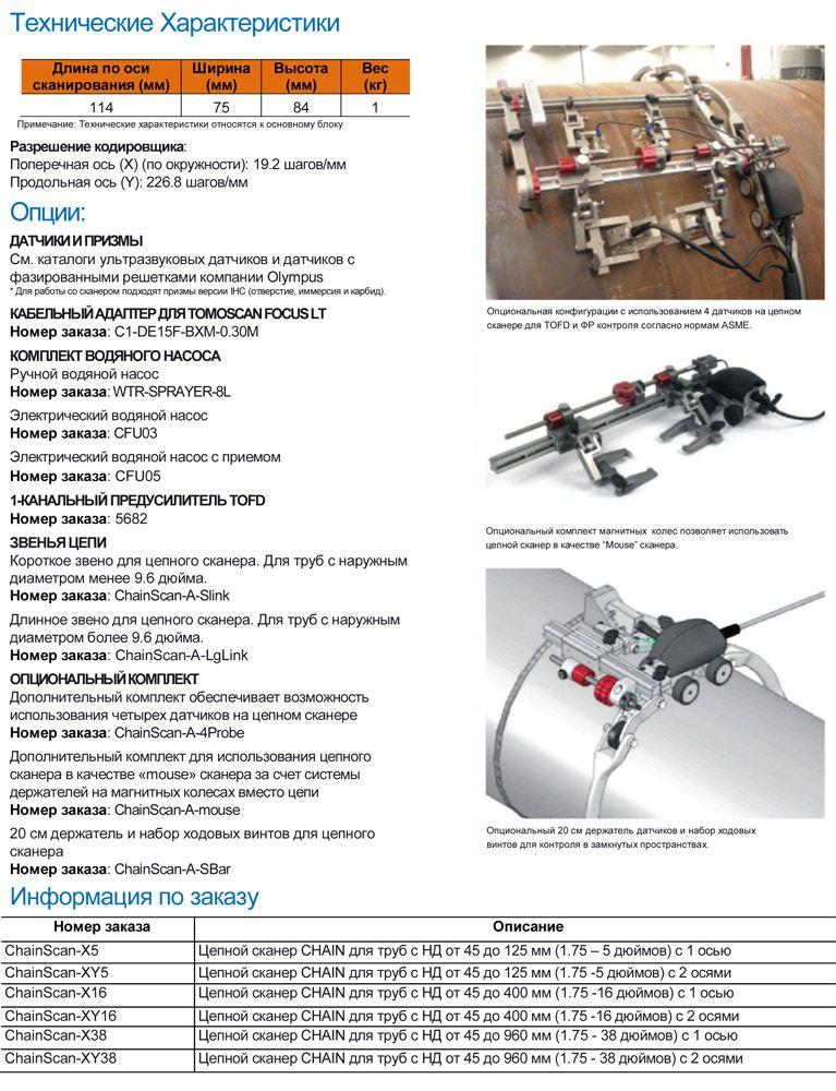 автоматизированный контроль трубопроводов Olympus CHAIN
